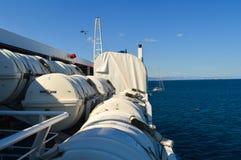 Veerboot in Piraeus haven, Athene, Griekenland op 19 Juni, 2017 Royalty-vrije Stock Foto
