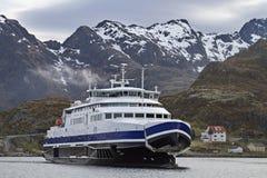 Veerboot in Sorvagen Royalty-vrije Stock Foto's