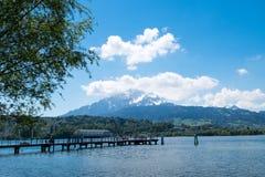 Veerboothaven bij Lucern-park Royalty-vrije Stock Foto