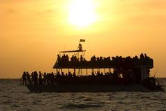 Veerbootpassagiers Stock Foto