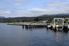 Veerbootpijler Powell River Westview Royalty-vrije Stock Afbeeldingen