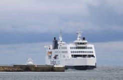 Veerboten tussen Duitsland en Denemarken Royalty-vrije Stock Foto's