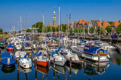 Veere harbour in the Netherlands Stock Images