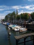 Veere, Zeeland, Netherlands. Old picturesque Dutch historical port in Veere, Zeeland Royalty Free Stock Photography