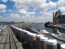 Veere, Zeeland, Netherlands. Old picturesque Dutch historical port in Veere, Zeeland stock photography
