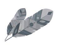Veerontwerp bohemic pluim, grafische vector royalty-vrije illustratie