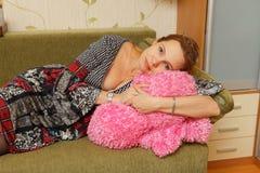 Veertig-jaar vrouw royalty-vrije stock foto's
