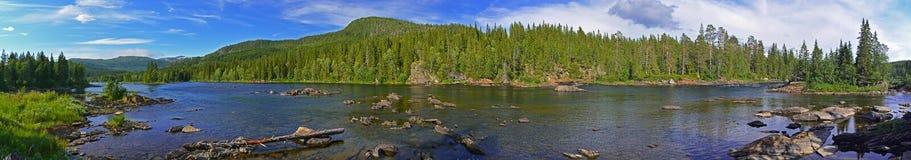 Vefsna river Stock Photo