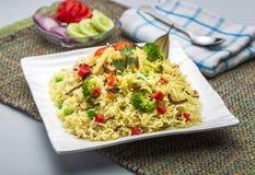 Veg-biryani oder veg pulav oder gekochter Reis Lizenzfreie Stockfotografie