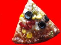 Veg d'écrimage et pizza de fromage indiens images libres de droits