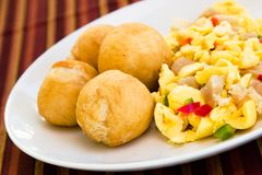 Veg Dumpling and Saltfish Royalty Free Stock Photo