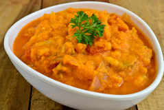 Veg Korma. Indian vegetarian meal ,Vegetable Korma Stock Photo