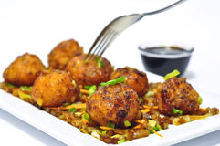 Veg Manchurian. Indian Veg Manchurian, indo chinese Manchurian snack prepared from cabbage and cornflour Royalty Free Stock Images