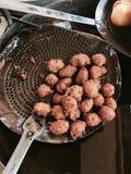 Veg Manchurian. Indian Veg Manchurian, indo chinese Manchurian snack prepared from cabbage and cornflour Stock Photos