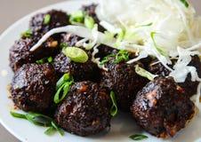Veg manchurian. Indo-chinese  veg soy cauliflower manchurian balls Royalty Free Stock Photography
