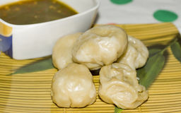 Veg Momos served Royalty Free Stock Images