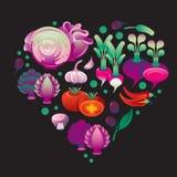 Veg Purple Heart Royalty Free Stock Photography