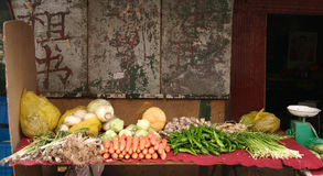 Veg shop in lanzhou china Stock Image