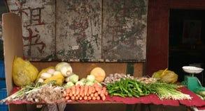 Veg shop in lanzhou china Stock Image