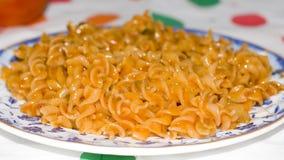 Veg tomato pasta. Close up of a vegetarian tomato pasta Royalty Free Stock Photos