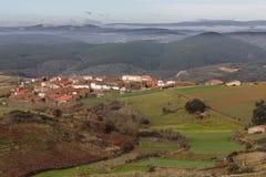 Vega DE Nuez stad in Zamora, Spanje Royalty-vrije Stock Foto