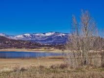 Vega State Park in April Sun. Vega State Park in Western Colorado in springtime. Near Grand Mesa National Forest stock photo