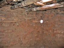 Vega strålar i boning på den Anasazi delstatsparken och museet Arkivfoton