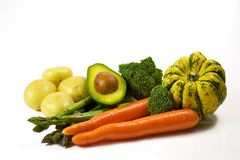 Vegables et fruit pour des salades, régime sain Image libre de droits