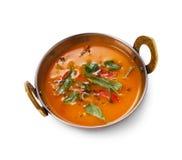 Vegan και χορτοφάγο ινδικό πιάτο κουζίνας, πικάντικη κρεμώδης σούπα ντοματών Στοκ φωτογραφία με δικαίωμα ελεύθερης χρήσης