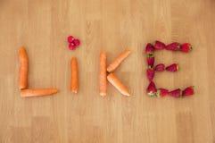 Vegan: Το συμπαθώ Στοκ Φωτογραφία