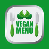 Дизайн еды Vegan Стоковое Изображение RF
