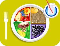 Vegan-Abendessen-Nahrung meine Platte Stockbild