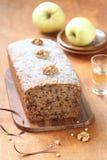 Vegan Apple Walnut Spice Cake Royalty Free Stock Photos