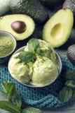 Vegan Avacado Ice Cream royalty free stock photos