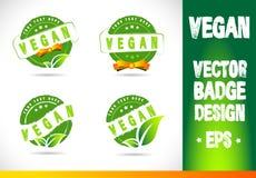 Vegan Badge Logo Vector Stock Photo