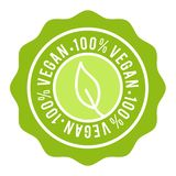 100% Vegan Badge. Vegan Button. Eps10 Vector Banner.  royalty free illustration
