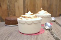 Vegan Baked Alaska Dessert stock photo