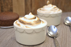 Vegan Baked Alaska royalty free stock images
