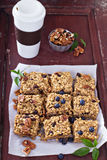 Vegan baked oatmeal with pecans Stock Images