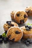 Vegan banana blueberry muffins Stock Photography