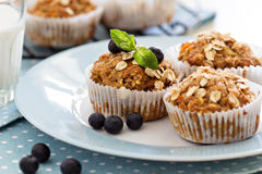 Vegan banana carrot muffins Royalty Free Stock Photos
