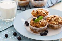 Vegan banana carrot muffins Stock Photo