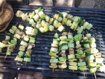 Vegan Barbecue for Grilled Vegetables and Proteins. A Vegan Barbecue for Grilled Vegetables and Proteins stock image