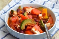 Vegan bean and tofu stew stock photos