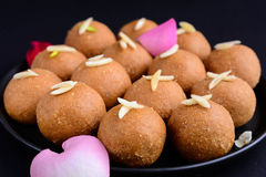 Vegan Besan Ladoo. Indian Dessert Royalty Free Stock Photos