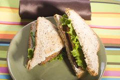 Vegan BLT on Whole Grain Royalty Free Stock Photography