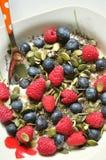 Vegan Breakfast With Berries And Chia, Pumpkin Seeds Royalty Free Stock Photo