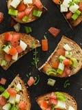 Vegan Bruschetta. Simple and Healthy Vegan Bruschetta Stock Image