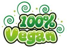 100% Vegan. In bubble font Royalty Free Illustration
