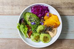 Vegan Buddha bowl Stock Images
